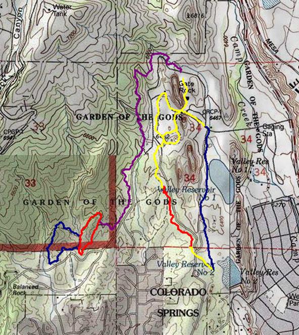 Garden Of The Gods Colorado Map.Garden Of The Gods