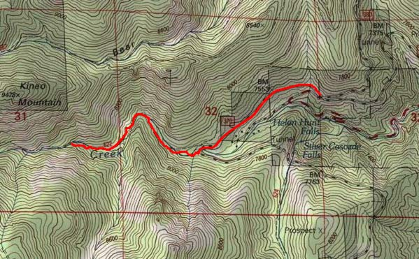Topographic Map Colorado Springs.Seven Bridges Trail